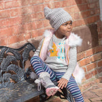 Satin Lined Winter Hats for Toddlers | Beanie | Cool Grey - Beautifully Warm, LLC