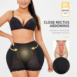Booty Lifter Hip Pads Body Shaper Shapewear Shorts with Tummy Control - Infinitress