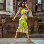 Lime Zebra Print Bodycon Skirt - Infinitress