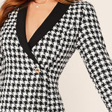 Plaid Blazer Dress - Infinitress