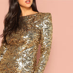 Gold Sequin Dress
