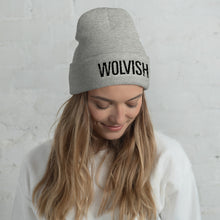 Load image into Gallery viewer, Wolvish Beanie Black / Grey
