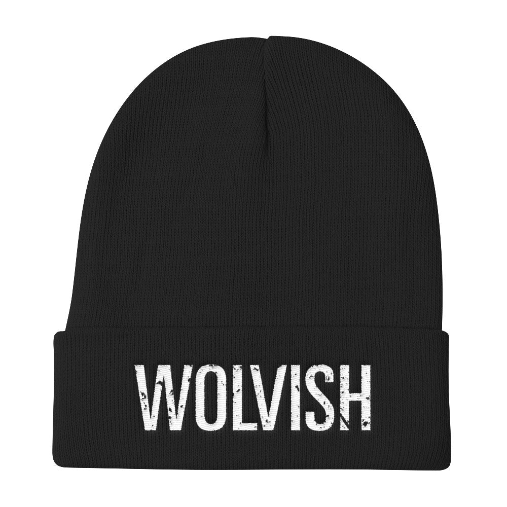 Wolvish Beanie White / Black