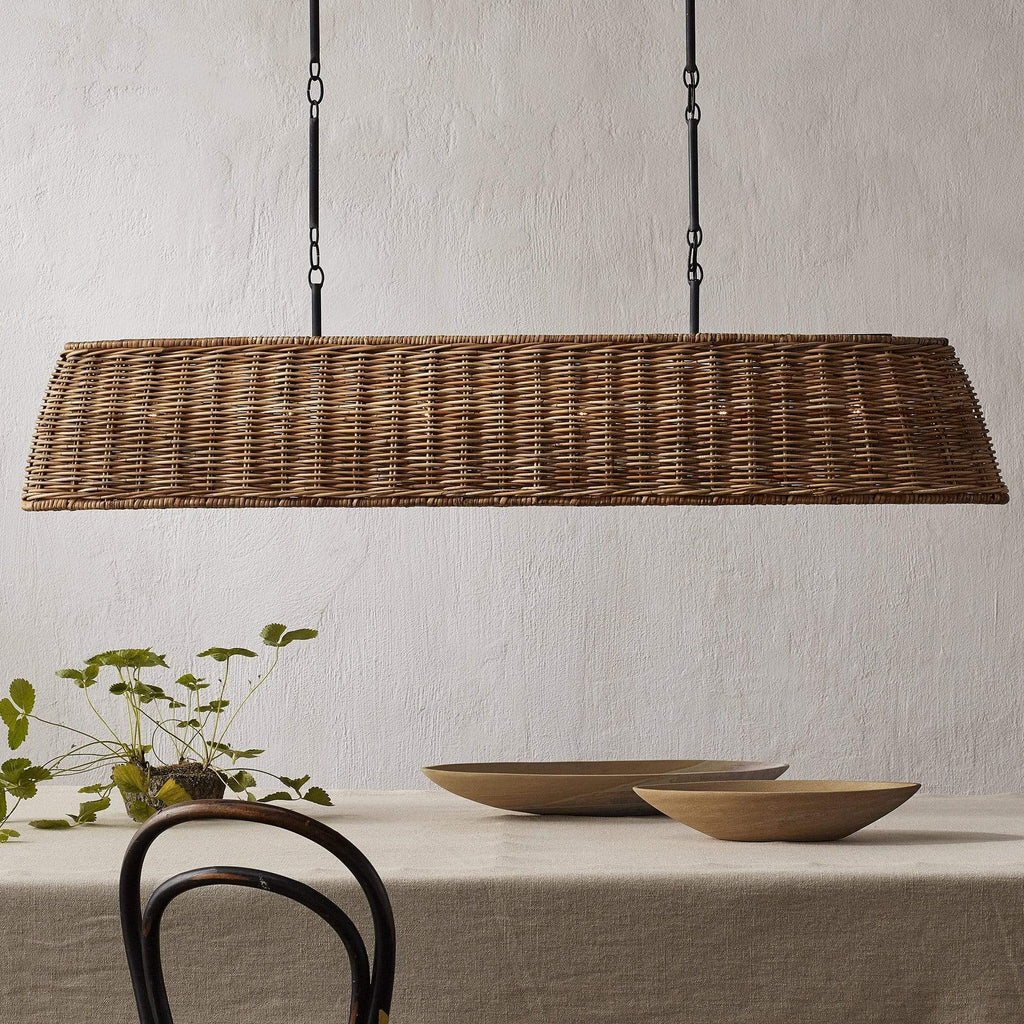 Currey and Company Basket Oval Chandelier