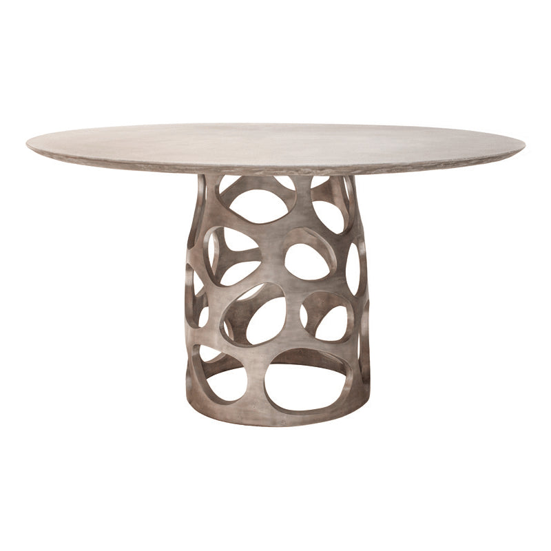 Oly Studio Orson Dining Table Pewterstone Meadow Blu