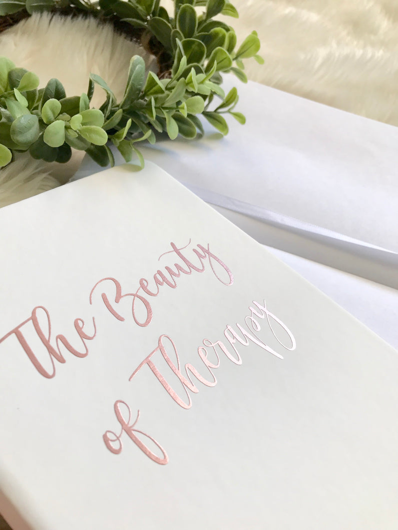 The Beauty of Therapy Rose Gold Notebook