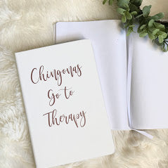 Chingonas Go To Therapy Rose Gold Notebook