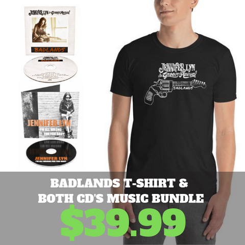 Badlands T-shirt and both CD's music bundle