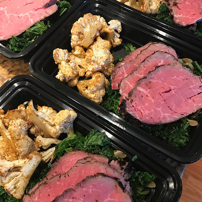 Beef Loin with Spicy Cauliflower and Hearty Greens