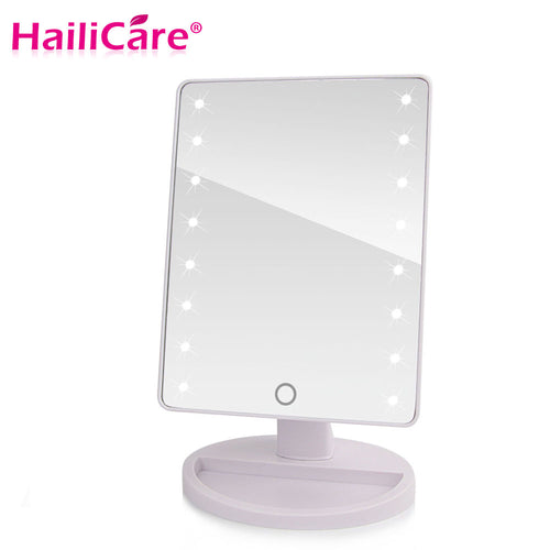 LED Touch Screen Cosmetic Professional Vanity Mirror With 16/22 LED Lights