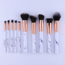 10Pcs/Set Professional Makeup Brushes Marbling Handle