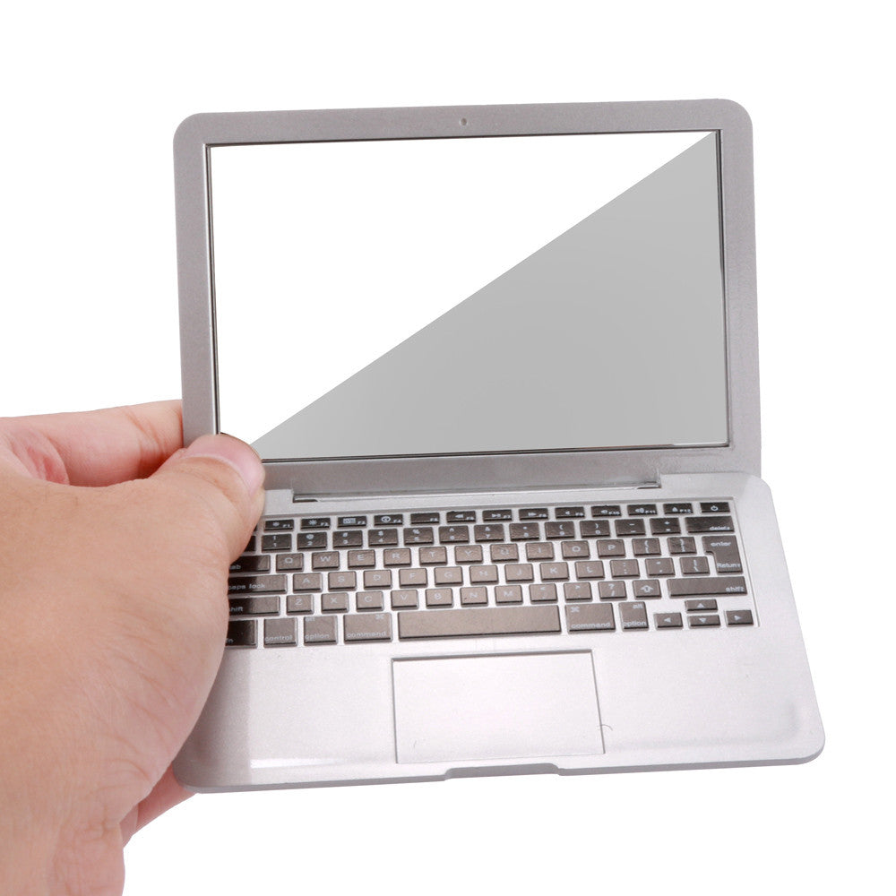 Cute Mini Pocket Laptop Style Clear Glass Mirror