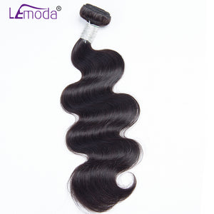 LeModa Brazilian Body Wave Human Hair Weave Bundles 1pc