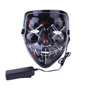 Halloween Mask LED Light Up Party Mask The Purge