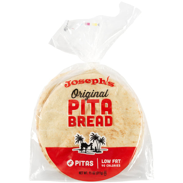 Joseph's Bakery original pita bread packaging photo from the front.
