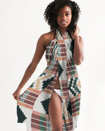(DIAMOND) Kente-Inspired Hand-Sewn Swim Cover Up-accessories-Phany's