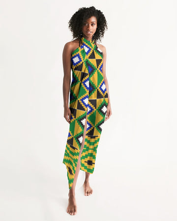 (POWER) Kente-Inspired Handmade Swim Cover Up