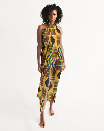 (STRENGTH) Kente-Inspired Hand-Sewn Luxury Swim Cover Up