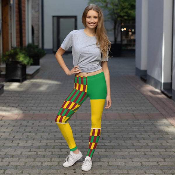 (EARTH) Kente-Inspired Hand-Sewn 4-Way Leggings-Phany's