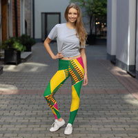 (ESSENCE) Kente-Inspired Hand-Sewn 4-Way Stretch Leggings-Phany's