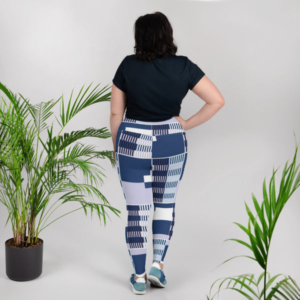 (BALANCE) Kente-Inspired Hand-Sewn 4-Way Stretch Plus Leggings-Phany's
