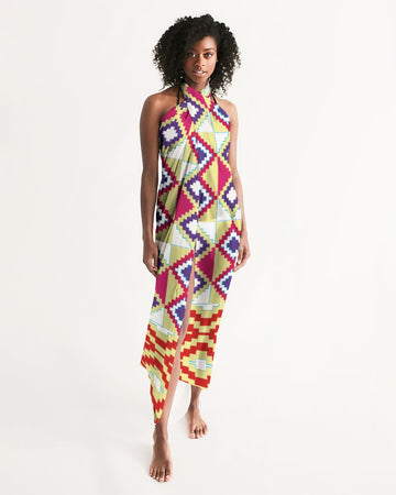 (LIFE) Kente-Inspired Handmade Swim Cover Up