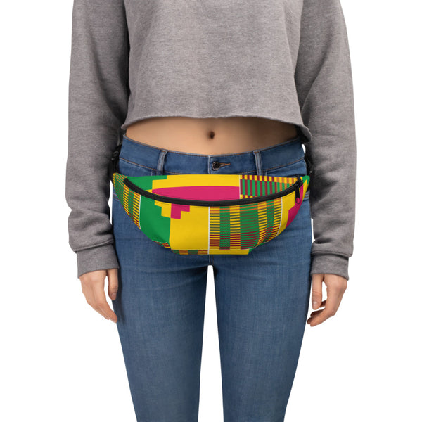 (ESSENCE) Kente-Inspired Hand-Sewn Fanny Pack-Phany's