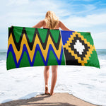 (POWER) Kente-Inspired Oversized Luxury Beach Towel-Phany's