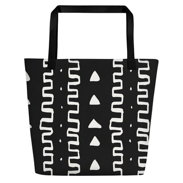 (INHALE) MudCloth-Inspired Hand-Sewn Luxury Tote Bag