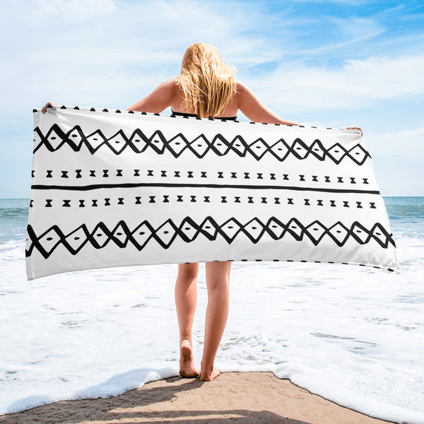 (EXHALE) MudCloth-Inspired Luxury Beach Towel-Phany's