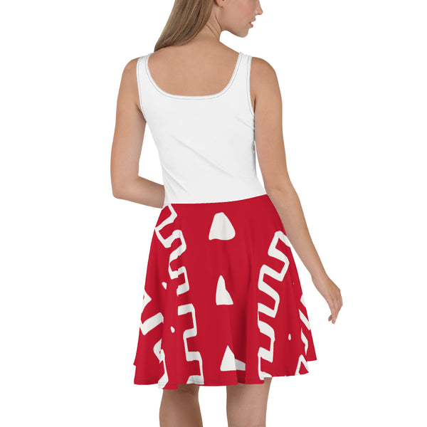 Cute Hand-sewn Mudcloth pattern Dress, Perfect Valentine Gift-Phany's