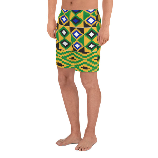 (POWER) Kente-Inspired Men's Luxury Athletic Long Shorts - Phany's