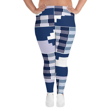 (BALANCE) Kente-Inspired Hand-Sewn 4-Way Stretch Plus Leggings