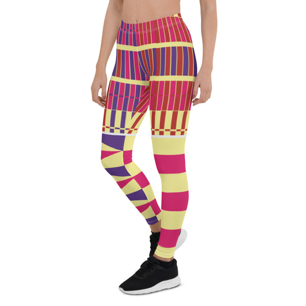 (LIFE) Kente-Inspired Hand-Sewn 4-Way Stretch Leggings-Phany's