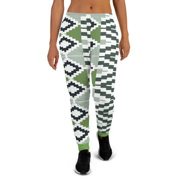 Green Quality Kente pattern Women's Joggers