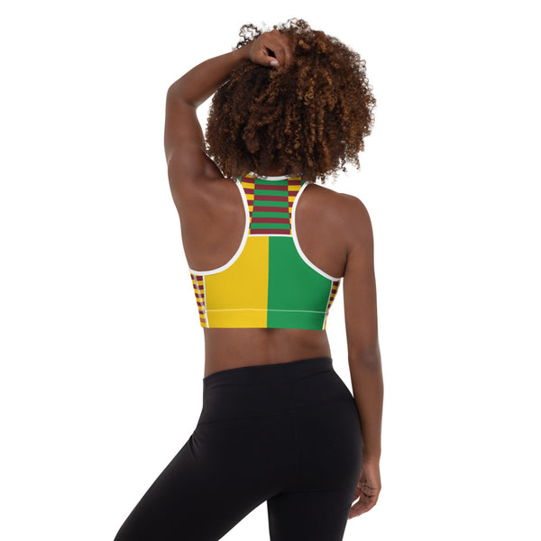 (EARTH) Kente-Inspired Hand-Sewn Padded Sports Bra-Phany's