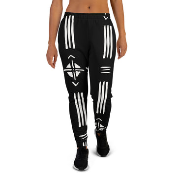 (INHALE) Hand-sewn Quality Mud-cloth pattern Women's Joggers
