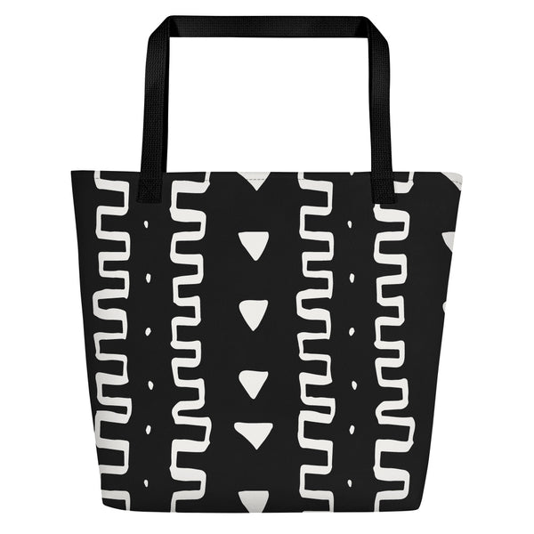(INHALE) MudCloth-Inspired Hand-Sewn Luxury Tote Bag-Phany's