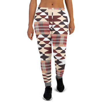 Grey Quality kente pattern Women's Joggers