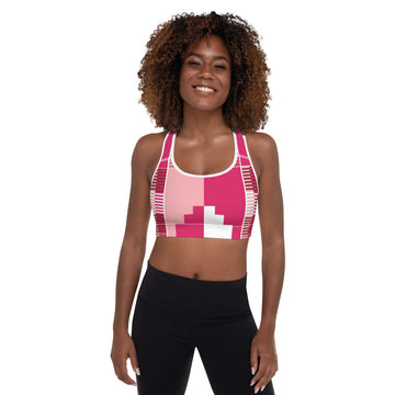 (GRACE) Kente-Inspired Hand-Sewn Padded Sports Bra
