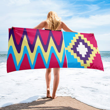 (LIFE) Kente-Inspired Luxury Oversized Beach Towel