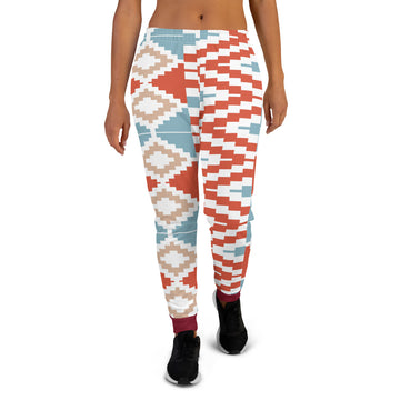 Valentine Gift hand-sewn Kente pattern Women's Joggers