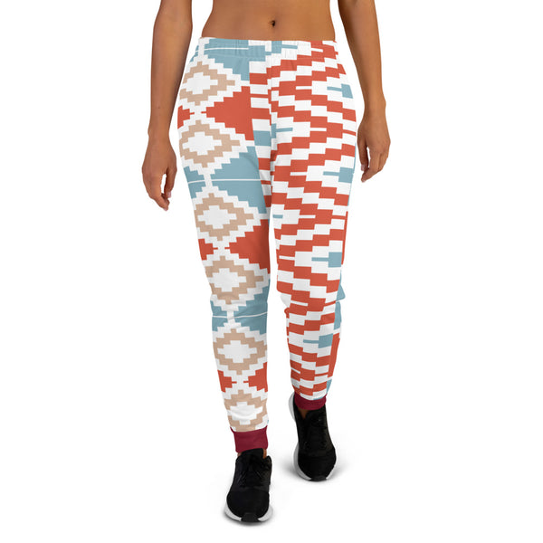 Valentine Gift hand-sewn Kente pattern Women's Joggers-Phany's