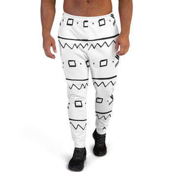 (EXHALE) Mudcloth pattern Men's Joggers