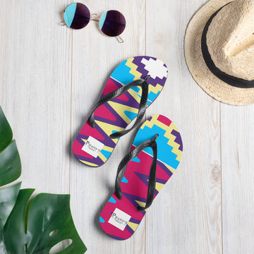 (LIFE) Kente-Inspired Durable Summer Flip-Flops Slippers