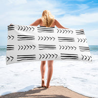 (EXHALE) MudCloth-Inspired Luxury Oversized Beach Towel-Phany's
