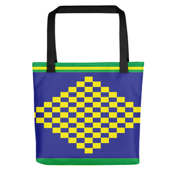 (POWER) Diamond-shape Hand-sewn Kente-inspired Tote bag