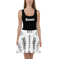 Cute Black & White Hand-sewn Mudcloth Bogolan pattern Dress-Phany's