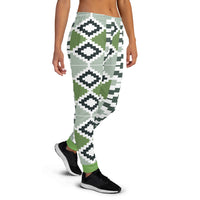 Green Quality Kente pattern Women's Joggers-Phany's