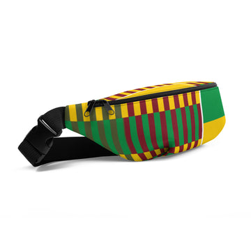 (EARTH) Kente-Inspired Hand-Sewn Luxury Fanny Pack